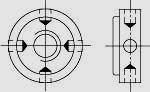 Гайка круглая с радиальными отверстиями и метрической мелкой резьбой ГОСТ 6393-73 (DIN 1816)