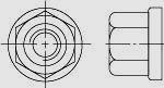 Гайка шестигранная высокая (H = 1,5d ) с шестигранным буртиком DIN 6331