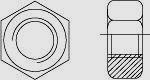 Гайка шестигранная высокопрочная с увеличенным размером под ключ DIN 6915 (EN 14399-4)