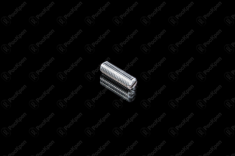 Винт установочный стопорный с прямым шлицем и плоским концом ГОСТ 1477-93 (DIN 551, EN ISO 4029)