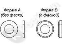 Шайба плоская нержавеющая сталь ГОСТ 11371-78, DIN 125