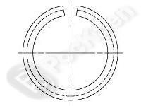 Кольцо стопорное пружинное из круглой проволоки для валов и отверстий DIN 7993