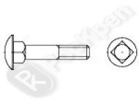 Болт мебельный с полукруглой головкой и квадратным подголовником DIN 603