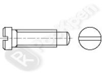 Винт с плоской уменьшенной головкой и цилиндрической цапфой DIN 922