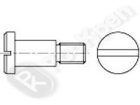 Винт с плоской головкой, шлицем и буртиком DIN 923