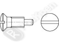 Винт с полупотайной головкой, шлицем и цапфой DIN 924