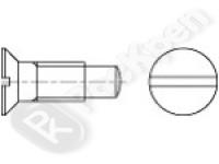 Винт с потайной головкой, шлицем и цапфой DIN 925