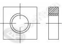 Гайка квадратная низкая, класс точности В DIN 562
