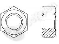 Гайка шестигранная нержавеющая сталь ГОСТ 5915-70
