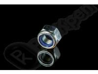 Гайка шестигранная самоконтрящаяся с неметаллической вставкой (пластмассовое кольцо), низкая DIN 985 (EN ISO 10511)