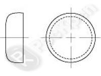 Крышка для укупорки вдавливанием DIN 443