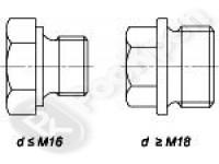 Пробка резьбовая с шестигранной головкой  DIN 7604