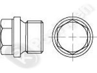 Пробка резьбовая с шестигранной головкой и фланцем DIN 910