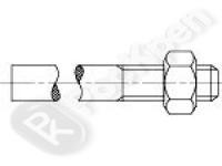 Шпилька приварная с гайкой DIN 525