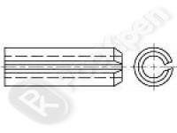 Штифт пружинный цилиндрический трубчатый разрезной DIN 7346
